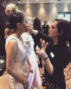 assisting to awarded celebrity makeup artist